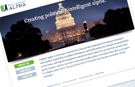 Political Alpha-Corporate Landing Page